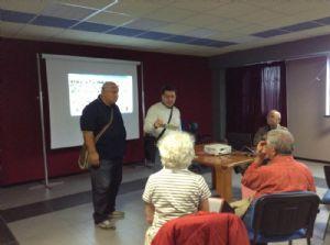 Gli organizzatori del corso: Il dott. Antonicelli e Pino Leone